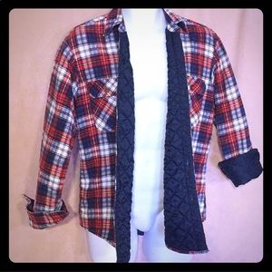 Stylewise Vintage plaid quilt lined button shirt M